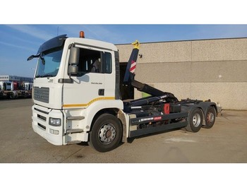 MAN TGA 26.390 6X2 CONTAINER SYSTEEM- CONTAINER SISTEEM- CONTAINER HAAKSYSTEEM- SYSTEME CONTENEUR - camion ampliroll