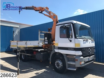 Mercedes-Benz Actros 2535 16 EPS, 3 pedals, Effer crane, Airco, Hub reduction - camion benne