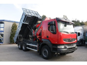 RENAULT KERAX 370DXI E4 (Tipper and Crane) - camion benne