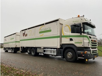Scania R 400 A 6X2 POULTRY TRUCK LIFSTOCK HOLLAND TRUCK GOOD CONDITION - camion bétaillère