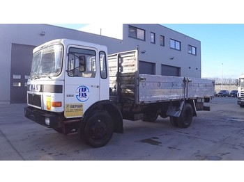 MAN 14.170 (FULL STEEL SUSPENSION / 6 CYLINDER ENGINE WITH MANUAL PUMP) - camion plateau