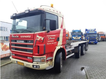 Scania R 124 GB 8X2/4 NA 420 - camion porte-conteneur/ caisse mobile