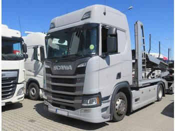 Camion porte-voitures SCANIA SCANIA LOHR R450 , E6 , 4x2 , Low Deck , 29,000km , EuroLohr , LIKE NEW R450 , E6 , 4x2 , Low Deck , 29,000km , EuroLohr , LIKE NEW Car Carriers Eurolohr 2.63 WXS , 2 SETS FOR SALE !