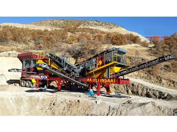 FABO MCK-60 MOBILE CRUSHING & SCREENING PLANT FOR HARDSTONE - concasseur mobile