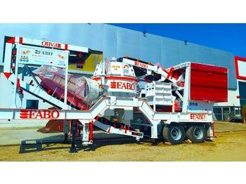 FABO MVSI 900 MOBILE VERTICAL SHAFT IMPACT CRUSHING SCREENING PLANT - concasseur mobile