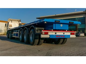 Semi-remorque plateau Nova NEW FLATBED SEMI TRAILER WITH CONTAINER LOCKS